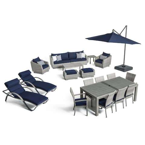 Cannes 20pc Outdoor Estate Set in Navy Blue by RST Brands