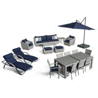 Cannes™ 20pc Outdoor Estate Set in Navy Blue by RST Brands