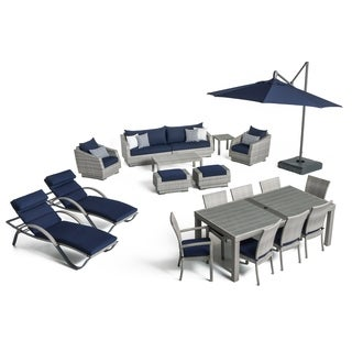 Cannes 20pc Outdoor Estate Set in Navy Blue by RST Brands®