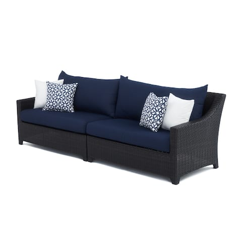 Deco 2pc Sofa with Navy Blue Cushions by RST Brands