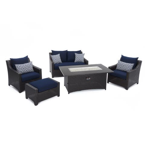 Deco 5pc Love and Club Fire Set - Navy Blue by RST Brands