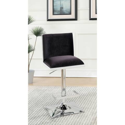Furniture of America Hevi Contemporary Velvet Fabric Padded Barstool