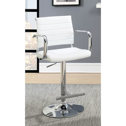 Furniture of America Fito Contemporary Faux Leather Padded Barstool