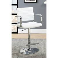 Furniture of America Morris Contemporary Faux Leather Bar Stool - N/A