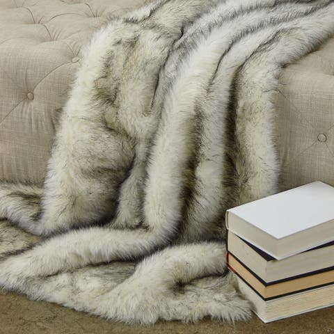 Plutus Polar Bear Faux Fur Luxury Throw