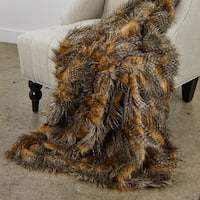 Plutus Porcupine Mocha Faux Fur Luxury Throw