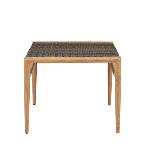 "Madison Park Harlem Grey Outdoor Resin Wicker Accent Table - 24""w x 24""d x 20""h"