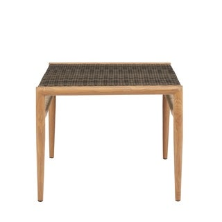"""Madison Park Harlem Grey Outdoor Resin Wicker Accent Table - 24""""w x 24""""d x 20""""h"""