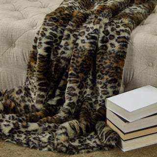 Plutus Wild Leo Faux Fur Luxury Blanket
