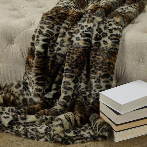 Plutus Wild Leo Faux Fur Luxury Blanket