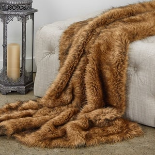 Plutus Tip Dyed Fox Faux Fur Luxury Blanket