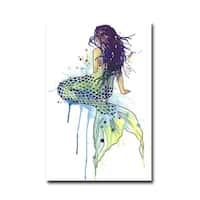 Mermaid by Sam Nagel Gallery Wrapped Canvas Giclee Art - 36 x 24