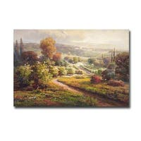 Valley View II by Roberto Lombardi Gallery Wrapped Canvas Giclee Art - 24 x 36