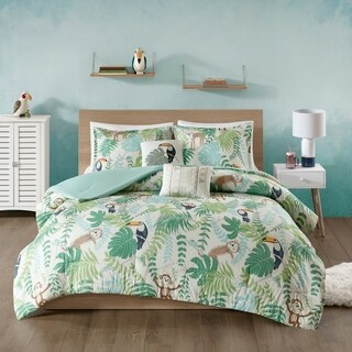 Urban Habitat Kids Jungle Book Green Cotton Printed Comforter Set