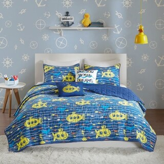Urban Habitat Kids Marina Navy Cotton Printed Coverlet Set