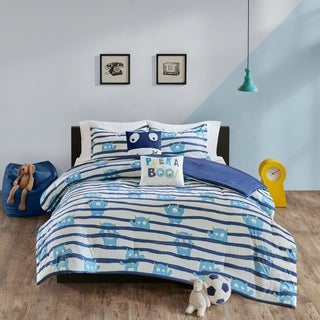 Urban Habitat Kids Boo Blue Cotton Printed Comforter Set