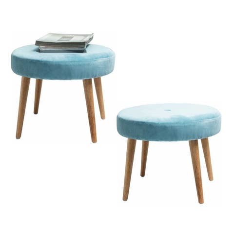 Mid-Century Mordern Round Stool,Set of 2
