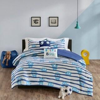 Urban Habitat Kids Boo Blue Cotton Printed Duvet Cover Set