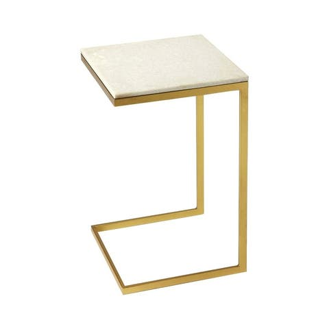 Butler Lawler Modern Butler Loft Square End Table - Gold