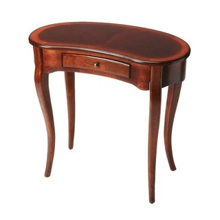 Offex Edgewater Plantation Cherry Kidney Shaped Writing Desk - Dark Brown
