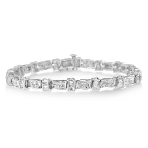 14K White Gold 3ct TDW Diamond Tennis Bracelet (H-I,SI2-I1)