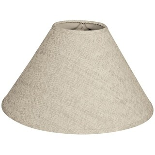Royal Designs Coolie Empire Hardback Lamp Shade, Linen Cream, 6 x 16 x 10
