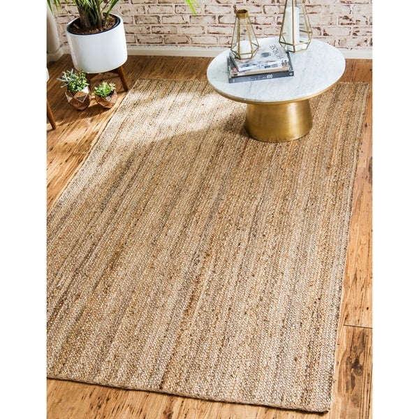 Shop Unique Loom Delhi Braided Jute Area Rug 12 2 X 16 On Sale