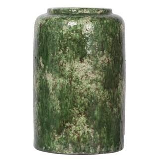 Firth Aged Green Medium Round Vase