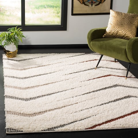 Safavieh Santorini Shag Staka Abstract Microfiber Rug