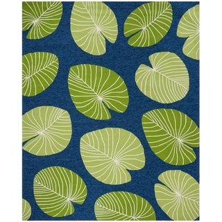 Martha Stewart by Safavieh Hand-hooked Lily Pad Rug (8 x 10 - Azurite)