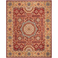 Safavieh Hand-Tufted Antiquity Traditional Red / Orange Wool Rug
