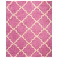 Safavieh Dallas Shag Casual Pink / Ivory Rug - 8' x 10'