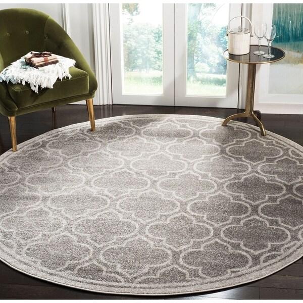 Safavieh Amherst Vintage Grey / Light Grey Rug (7' Round)