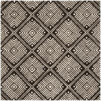 Safavieh Hand-Tufted Cambridge Modern & Contemporary Ivory / Charcoal Wool Rug - 6' Square