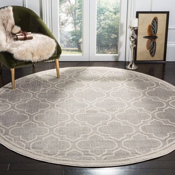 Safavieh Amherst Vintage Light Grey / Ivory Rug - 7' x 7' Round