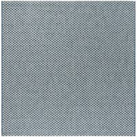 Safavieh Courtyard Modern & Contemporary Blue / Light Grey Indoor Outdoor Rug - 7' Square