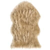 Safavieh Hand-Spun Faux Sheep Skin Modern & Contemporary Light Grey / Black Rug - 2' x 3'