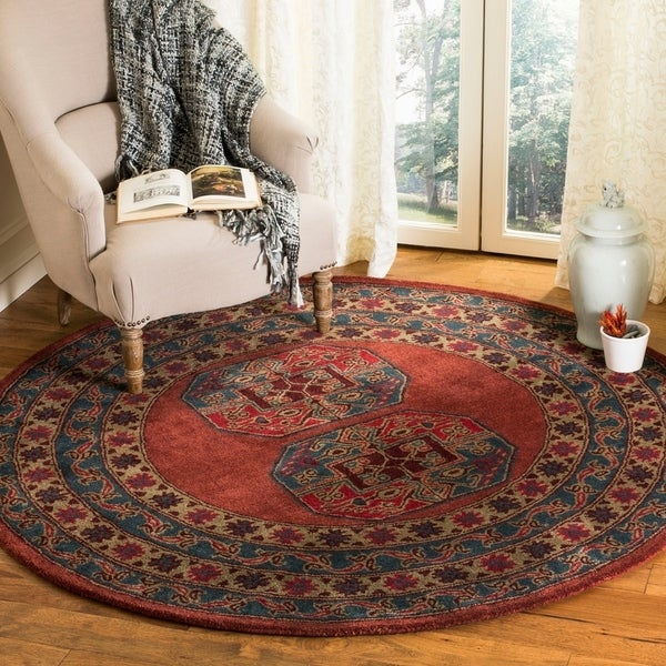 Safavieh Hand-Tufted Heritage Traditional Red Wool Rug (6' Round)