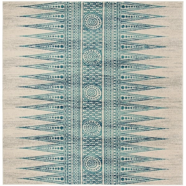 Safavieh Evoke Vintage Ivory / Turquoise Rug (6'7' Square)