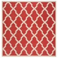 "Safavieh Linden Modern & Contemporary Red / Cream Rug - 6'7"" x 6'7"" square"