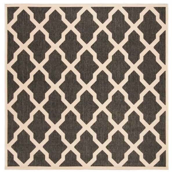 Safavieh Linden Modern & Contemporary Black / Cream Rug - 6' Square