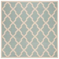 Safavieh Linden Modern & Contemporary Aqua / Cream Rug - 6' Square
