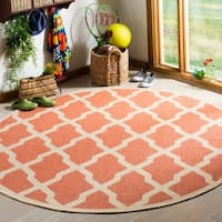 "Safavieh Linden Modern & Contemporary Rust / Cream Rug - 6'7"" x 6'7"" round"