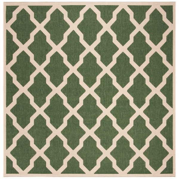 "Safavieh Linden Modern & Contemporary Green / Cream Rug - 6'7"" x 6'7"" square"