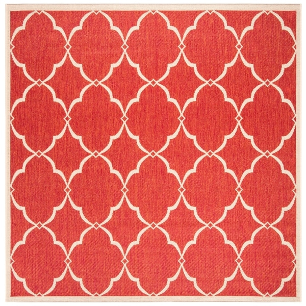 "Safavieh Linden Modern & Contemporary Red / Cream Rug - 6'7"" x 6'7"" square"