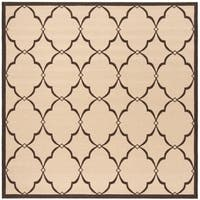 Safavieh Linden Modern & Contemporary Cream / Brown Rug - 6' Square