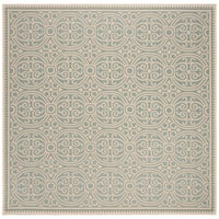 Safavieh Linden Modern & Contemporary Cream / Aqua Rug - 6' Square