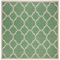 "Safavieh Linden Modern & Contemporary Green / Cream Rug - 6'7"" x 6'7"" square"