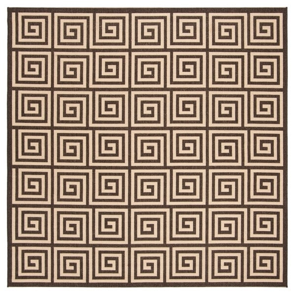 Safavieh Linden Modern & Contemporary Cream / Brown Rug - 6' Square