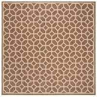 "Safavieh Linden Modern & Contemporary Beige / Cream Rug - 6'7"" x 6'7"" square"